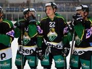 Auch die Spieler des HC Thuragu können die Playoffs in der Swiss League planen (Bild: KEYSTONE/GIAN EHRENZELLER)