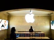 Apple-Verkaufsgeschäft in der Grand Central Station in New York. (Bild: KEYSTONE/EPA/JUSTIN LANE)