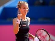 Wieder einmal Grund zum Jubeln: Viktorija Golubic gewinnt in der Startrunde von Hua Hin (Bild: KEYSTONE/ANTHONY ANEX)
