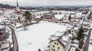 Sechs Mehrfamilienhäuser mit insgesamt 46 Wohnungen sind auf der Engelburger Kirchwiese geplant. (Bild: Hanspeter Schiess)