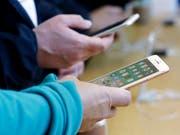 Schmerzhafte Panne bei Apple: Über den Telefoniedienst Facetime im iPhone konnten andere Nutzer belauscht werden. (Bild: KEYSTONE/AP/JEFF CHIU)