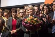 Andrea Gmür wurde von den Delegierten in Sursee gewählt, um den CVP-Sitz im Stöckli zu verteidigen. (Bild: Boris Bürgisser)