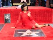 Erhielt einen eigenen Stern auf dem «Walk of Fame» in Hollywood: Schauspielerin Taraji P. Henson. (Bild: KEYSTONE/EPA/NINA PROMMER)