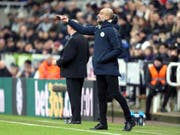 Alle Anweisungen von Pep Guardiola (Trainer Manchester City) halfen nichts - Liverpool kann Manchester City am Mittwoch wieder auf 7 Punkte davonziehen (Bild: KEYSTONE/AP PA/RICHARD SELLERS)