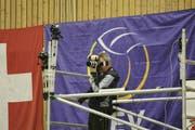 Im Sechzehntelfinal gegen Groningen zeichneten zahlreiche Kameras das Spielgeschehen im Amriswiler Tellenfeld auf. (Bild: Mario Gaccioli, 28. November 2018)