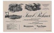 Eine Visitenkarte von Jacob Rohner bildete die «Schiffli» ab. (Bild: pd)