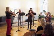 Die Musikanten des Jugend Barockensembles aus Wien verzauberten das Publikum mit authentischen Instrumenten. (Bild: PD)