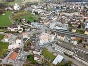 In Goldach stehen Veränderungen an: Die Überbauung Triangel steht bereits, fürs Mühlegut liegt erst das Siegerprojekt vor. (Bild: Tino Dietsche)