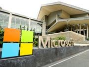 Der Software-Hersteller Microsoft konnte zwar den Gewinn im zweiten Geschäftsquartal kräftig steigern. Es machte sich aber auch eine Verlangsamung im wichtigen Cloud-Geschäft bemerkbar. (Bild: KEYSTONE/AP/TED S. WARREN)
