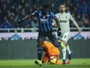 Der Kolumbianer Duvan Zapata schoss beim 3:0-Sieg von Atalanta Bergamo im Cup-Viertelfinal gegen Juventus Turin zwei Tore (Bild: KEYSTONE/EPA ANSA/PAOLO MAGNI)