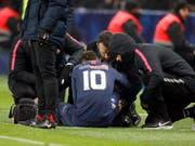 Neymar (Nummer 10) muss rund zehn Wochen pausieren (Bild: KEYSTONE/AP)