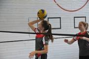 Voller Einsatz am Volleyball-Turnier in der Kollegi-Turnhalle. (Bild: Matthias Piazza (Stans, 30. Januar 2019))