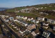 Es wird gebaut: Die Gemeinde Eich aus der Vogelperspektive. (Bild: Boris Bürgisser (15. Januar 2018))