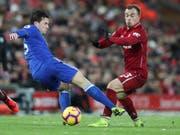 Xherdan Shaqiri wurde beim 1:1 von Liverpool gegen Leicester City nach 67 Minuten ausgewechselt (Bild: KEYSTONE/AP/JON SUPER)