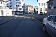 Bei der Kreuzung Mariabergstrasse/ Kirchstrasse kam es zu einem Blechschaden. (Bild: Kapo SG)
