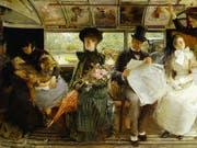 Das Gemälde «The Bayswater Omnibus» (1895) von George William Joy ist Teil der Ausstellung «Englische Malerei» in der Fondation de l'Hermitage in Lausanne. Sie dauert vom 1. Februar bis 2. Juni 2019. (Bild: George William Joy / Museum of London)