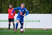 Silvan Sidler, hier in Aktion gegen Steaua Bukarest, bleibt dem FC Luzern erhalten. (Bild: Martin Meienberger/Freshfocus, Marbella, 17.01.2019)