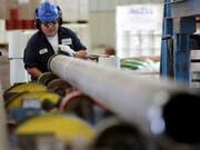 Der Handelskrieg lastet auf der chinesischen Industrie. (Bild: KEYSTONE/AP/DAVID J. PHILLIP)