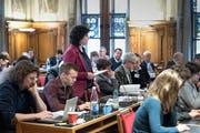 Im Luzerner Stadtrat stand die Debatte über Einbürgerungskosten an. Mit dabei: Korintha Bärtsch (Grüne). (Bild: Pius Amrein (Luzern, 31. Januar 2019))
