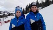 Matteo Wipfli (links) und Beda Muoser fuhren in Sörenberg je auf den 4.Rang. (Bild: PD)