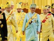 Malaysias neuer König Tengku Abdullah nach der Zeremonie zu seiner Amtseinführung. (Bild: KEYSTONE/MALAYSIA DEPARTMENT OF INFO/SHAIFUL NIZAL ISMAIL/HANDOU)
