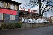 Das «Eichwäldli» am Murmattweg ist seit Donnerstag offiziell besetzt. (Bild: Corinne Glanzmann (Luzern, 2. Januar 2019))