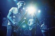 Voller Energie wie stets: Christian Käufeler am Saxofon. (Bild: Michael Hug)