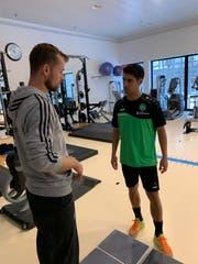 Der neu verpflichtete Spanier Victor Abril Ruiz erhält Instruktionen. (Bild: pd)