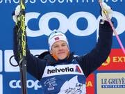 Mit einem Kraftakt das Leadertrikot verteidigt: Johannes Hösflot Klaebo gewann zum ersten Mal die Tour de Ski (Bild: KEYSTONE/AP dpa/KARL-JOSEF HILDENBRAND)