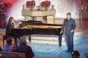 Exzellenter Liederabend in Rotmonten: Pianistin Claire Pasquier und Tenor Steve Davislim. (Bild: Urs Bucher)