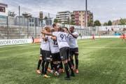 Die Spieler des FC Wil hatten in der Hinrunde oft Grund zum Jubeln. (Bild: Michel Canonic)