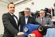 Die ISA Bodywear-Geschäftsleitung: Christian Sallmann, Jürg Keel und CEO Andreas Sallmann. (Bild: Rita Kohn)