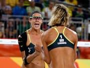 Kira Walkenhorst (links) im Olympia-Final 2016 in Rio de Janeiro (Bild: KEYSTONE/EPA EFE/ORLANDO BARRIA)