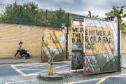 Historischer Check-Point zwischen katholischem und protestantischem Stadtteil in Belfast. (Bild: Matthias Graben/Imago)