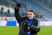 Ruben Vargas freut sich nach dem Sieg über St. Gallen zum Abschluss der Vorrunde. (Bild: Martin Meienberger/Freshfocus (Luzern, 16. Dezember 2018))