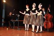 Die Sam-Singers in Aktion: Samuel Zünd, Catriona Bühler, Julia Schiwowa, Helen Iten, Fridolin Blumer (von links). (Bild: Peter Küpfer)