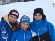 Die erfolgreichen Urner in Sörenberg: Florine Traxel (von links), Beda Muoser und Yves Christen. (Bild: PD)