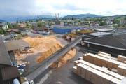 Das Pavatex-Werk für Holzfaserdämmstoffe. (Bild: Pavatex)