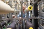 Auch die Älteren profitieren, die Arbeitslosenquote der über 50-Jährigen ist jedoch nur halb so stark gesunken wie der Durchschnitt: Mitarbeiter der Lantal Textiles AG in Melchnau. Bild: Marcel Bieri/Keystone (21. März 2016)