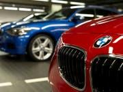 Der deutsche Autohersteller BMW hat 2018 etwas mehr Autos verkauft als im Vorjahr. (Bild: KEYSTONE/AP dapd/Lukas Barth)
