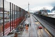 Die Baustelle der Lärmschutzgalerie vor rund zehn Jahren. (Bild: Pius Amrein (12. Dezember 2008))