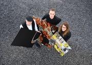Simon, Pascal und Debora Walther befassen sich auf ihre je eigene Art mit der Fotografie.Bild: PD