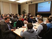 Delegiertenversammlung der CVP Nidwalden im Hotel Engel in Stans. (Bild: Martin Uebelhart (Stans, 8. Januar 2019))