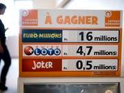 Beim Glücksspiel «Joker» hat eine Person aus der Westschweiz 1'542'346 Franken gewonnen. (Bild: KEYSTONE/LAURENT GILLIERON)