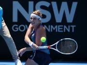 Timea Bacsinszky kämpfte sich in Sydney in den Viertelfinal (Bild: KEYSTONE/AP/RICK RYCROFT)