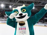 Maskottchen «Yodli» wird die olympischen Jugendspiele begleiten (Bild: KEYSTONE/JEAN-CHRISTOPHE BOTT)