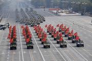 China präsentiert seine militärische Macht. (Bild: EPA, Peking, 1. Oktober 2019)
