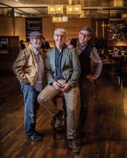 Gambrinus-Trio im Einstein-Bistro: Pino Buoro, Andreas B. Müller und Peter Hummel (von links) vom Vorstand des Jazzvereins wollen zurück- oder kürzertreten. (Bild: Michel Canonica)