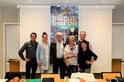 Der Vorstand des Theatervereins Eigägwächs freut sich auf die Premiere von «Big Fish». (Bild: PD)