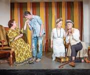 «Du bist ein enormer Schafskopf»: Regine Weingart, Matthias Flückiger, Isabelle Rechsteiner und Volker Ranisch (v.l.). (Bild: Urs Bucher)
